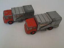 Lesney Matchbox - Camion benne à ordures + un second pour pièces