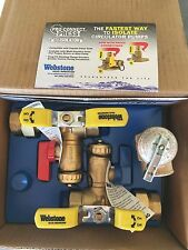 Rheem RTG20220AB Watts Tankless Water Heater Service Valve Kit, Clean Brass