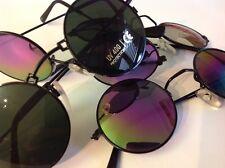 3 x Nickelbrille Brille Rund Vintage-Sonnenbrille  Neu mit UV-Schutz