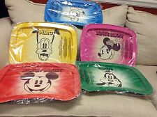 NEW Set of 5 Disney DMR Retro Vintage TV Trays Mickey Donald Goofy Pluto Minnie