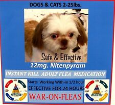 Flea Control 12mg Dogs 2lbs.-25lbs.(6) Pack +1 FREE Capsule $7.49  GREAT REVIEWS