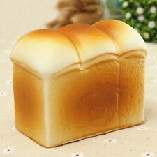 Fashion Cute Jumbo Squishy Toast Bread Hand Pad Pillow Kids Toy Gift Decor 90mm