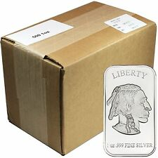American Buffalo 1oz .999 Fine Silver Bar by SilverTowne - Monster Box OF 500