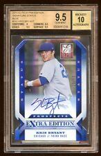 BGS 9.5 *10* KRIS BRYANT 2013 DONRUSS ELITE RC AUTO #D /50 ON CARD AUTOGRAPH HOT