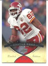 2008 UD PREMIER. DWAYNE BOWE. K.C. CHIEFS. LIMITED EDITION CARD #38. 33/35.