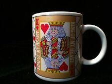 King of Hearts Playing Card Mug Retro Gift Game 10 Oz Coffee Cup