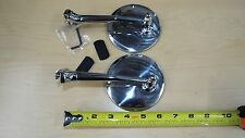 2 (pair)  Outside Door Peep 4 Inch Mirror, HOT ROD, FORD CHEVY, DODGE,RAT ROD