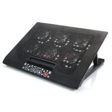 """USB 12""""-17"""" Notebook LED 6 Fan Cooling Cooler Pad Adjust Foldable Stand Black HK"""