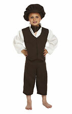 Victorian Urchin Peasant Boy Historical Fancy Dress Costume Age 10-12 P8412