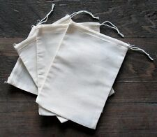 100 (5x7) Cotton Muslin Drawstring Bags