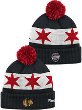 Chicago Blackhawks 2016 Stadium Series Cuffed Knit Hat with Pom NHL Beanie
