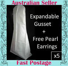 Wedding Dress Storage Bags x 5  Breathable XL EXPANDABLE GUSSET THE DIFFERENCE