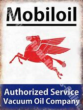 Vintage Garage, Mobiloil Mobil Motor Oil, Advertising 44, Small Metal/Tin Sign