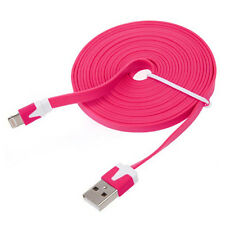 Flat Noodle Cable Data Sync Charger Cord for iPhone 5 5S 5C iPod Touch 5 Nano 7