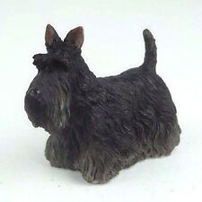 "Scottish Terrier Puppy Dog in Black - Collectible Figurine Miniature 3""L New"
