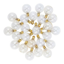 Clear 5-Watt G40 Globe Light Bulbs, E12 Candelabra Base (25 PACK)