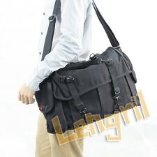 Dollice DR-655 Canvas Camera Bag Shoulder Bag Twelve Pockets Black Brand New