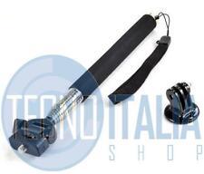 Bastone Nero Asta per Selfie Monopiede telescopico allungabile Fotocamere GoPro