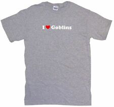 I Heart Love Goblins Mens Tee Shirt Pick Size Color Small-6XL