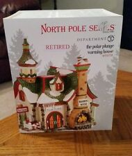 "2013 DEPARTMENT 56 - NORTH POLE SERIES ""THE POLAR PLUNGE WARMING HOUSE""-RETIRED"
