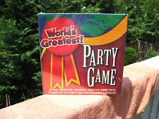 Worlds Greatest Party Game: Acting, Searching, Drawing, Creating~New & Sealed!
