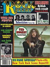 5/77 Rock Scene magazine  TED NUGENT cover  Patti Smith  KISS  Ramones  Bee Gees