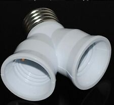 2 Port E27 LED CFL Base Light Lamp Bulb Adapter Converter Socket Splitter