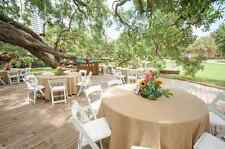 "90"" ROUND Natural BURLAP TABLECLOTH Table Cover Wedding Party Catering"