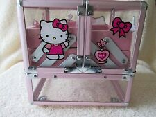 Hello Kitty Girl Jewelry Box Fairy Pink Earrings Bracelets Mirrior Drawers