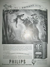 PUBLICITE DE PRESSE PHILIPS T.S.F. MULTI-INDUCTANCE 535  FRENCH ADVERTISING 1935