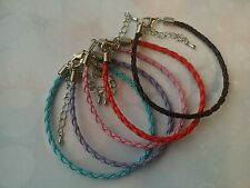 5 X 3mm Braided Leather Anklet / Bracelets