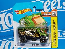 Hot Wheels 2015 Off-Road Short Card #104 Aero Pod Green w/ OR6SPs