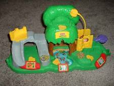 Fun Kids Fisher Price Little People Animal Sounds Zoo Structure Monkey Toy EUC