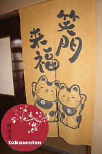 NOREN Traditionnel NEKO FUKURAI Japanese Noren Japonais Rideaux MADE IN JAPAN