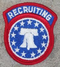 New Dealer Lot of 200 U.S. Army Recruiting Command Patches, Sew-On,  Full Color