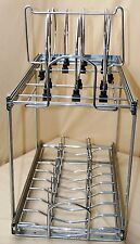 2-Tier Pull-Out Wire Basket Base Cabinet Chrome, Kitchen Storage Organizer Rack