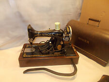 Vintage Singer Sewing Mach. 99 In Bentwood Case With Knee Control PRD2384