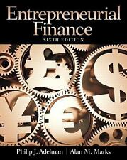 Entrepreneurial Finance by Philip J. Adelman and Alan M. Marks (2013, Paperback)