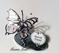 Friend Butterfly Ornament Gift Ideas for Her with Swarovski Crystals SP508