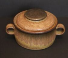 Denby England Romany Brown 1 Quart Casserole Dish with Lid Stoneware