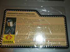 2008 GI JOE CONVENTION -  Headhunter Vehicle Opererator filecard