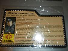 2008 GI JOE convenzione-HEADHUNTER veicolo opererator filecard