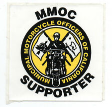 Older MMOC Sticker Municipal Motorcycle Officers of California w/ Policeman