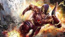 "The Flash TV Series Show Seasona Fabric poster 24"" x13"" Decor 09"