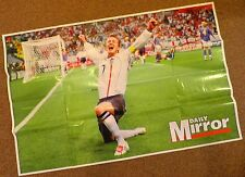 Huge David Beckham England Poster - Originally given with The Daily Mirror