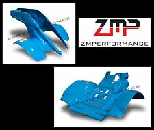 NEW HONDA TRX 250R PLASTIC ELECTRIC BLUE FRONT AND REAR FENDER SET TRX250R