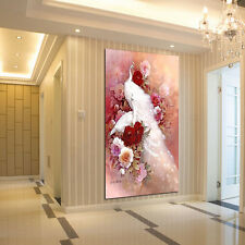 5D DIY White Peacock Diamond Embroidery Painting Landscapes Cross Stitch Popular