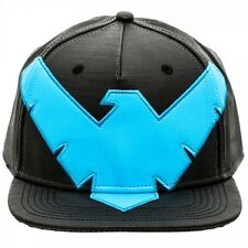 DC NIGHTWING Faux Leather Costume Snapback Hat - Batman - NEW LICENSED