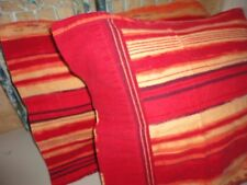 HOME TRENDS RED ORANGE PURPLE SOUTHWESTERN (PAIR) FLANNEL KING PILLOWCASES 19X39