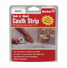 Red Devil 0151 Wide White Tub and Wall Caulk Strip 1-5/8-Inch by 11-Foot , New,